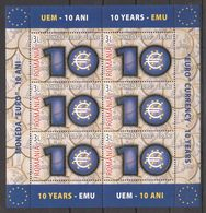 Z053 !!! GOLD 2009 ROMANIA CULTURE MONEY COINS MONEDA EURO 10 YEARS 1KB MNH - EU-Organe