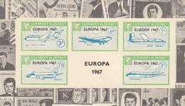 Alderney (Guernsey) - Europa 1967 M/Sheet JFK Border  - Unmounted Mint - Alderney