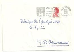 MANCHE - Dépt N° 50 = COUTANCES 1990 =  FLAMME Type II = SECAP  Illustrée 'CATHEDRALE / EGLISES - JARDIN PUBLIC ' - Postmark Collection (Covers)
