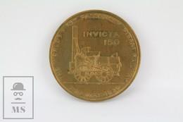 Canterbury & Whitstable Railway Bronze Commemorative Medal - Invicta 150 - United Kingdom