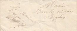 Lettre Sans Marque Postale Par Exprès De SALLAGRIFFON Alpes Maritimes 15/9/1844  Pour  Médecin Aiglun - 1801-1848: Vorläufer XIX