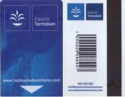 SPAIN. HOTEL KEY CARD. BALNEARIO DE ARCHENA (MURCIA). 019. - Cartas De Hotels