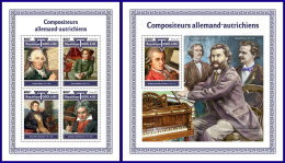 TOGO 2017 MNH** Composers Komponisten Compositeurs M/S+S/S - OFFICIAL ISSUE - DH1801 - Musik