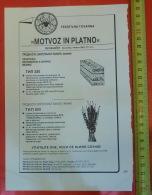 MOTVOZ Grosuple (Slovenia) Yugoslavia / Spider Araignée Spinne Araña Ragno / Textile Industry - Publicités