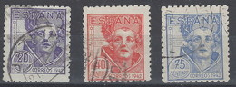 España U 0954/956 (o) San Juan De La Cruz. 1942 - 1931-50 Gebraucht