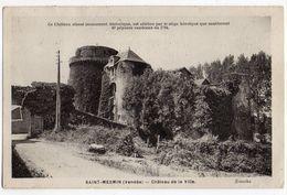 Env Pouzauges Et Cerizay(79)-SAINT MESMIN--1951-Chateau De La Ville -- Cachet Saint Mesmin-85 - France
