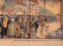 """Mineurs Chômeur NORD Et PAS De CALAIS Manifestation Pacifique  Marche VALENCIENNES - PARIS  Mining """"Gueules Noires"""" - Livres, BD, Revues"""