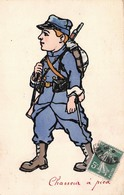 Illustration - Soldat Chasseur à Pied - Militaire Militaria Uniforme - Illustratoren & Fotografen