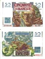 FRANCE - 50 Fr LE VERRIER 24/8/1950 - F 20/16 (P 127c) SPL (AUNC) - 1871-1952 Circulated During XXth