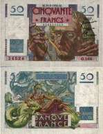 FRANCE - 50 Fr - LE VERRIER 24/8/1950 - F 20/16 (P 127c) SUP+ (AU) - 1871-1952 Circulated During XXth