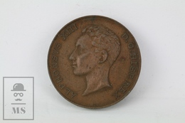 Alfonso XIII Commemorative Bronze Medal - Dated 17 May 1902 - Royal/Of Nobility
