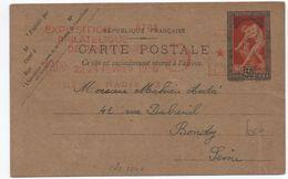 1936 - ENTIER VIII° OLYMPIADE Avec EMA EXPOSITION PHILATELIQUE DE PROPAGANDE - Entiers Postaux