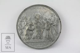 Antique 1880 Cologne Cathedral, Germany Medal - Der Dom Zu Coln - Otros