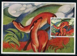 Panama - Carte Maximum 1967 - Oeuvre De Franz Marc - Panama