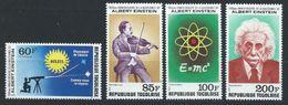 Togo YT PA 382-385 XX / MNH Albert Einstein - Togo (1960-...)