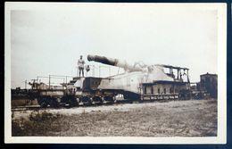 Cpa Carte Photo Canon Sur Train !! SEP17-96 - Equipment