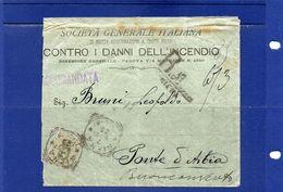 ##(ANT182)- 7-9-1897-Siena- Busta Raccomandata Con Cent.45 Umberto Ann. Tondo Riquadrato Per Buonconvento(Siena) - 1878-00 Umberto I
