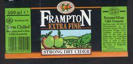 BOTTLE LABEL - FRAMPTON VILLAGE CIDER COMPANY (FRAMPTON-ON-SEVERN, ENGLAND) - EXTRA FINE STRONG DRY CIDER - Birra