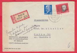 223006 /  1963 -50 + 20 Pf Eugène Pottier  DEUTSCHE AKADEMIE DER WISSENSCHAFTEN ZU BERLIN , DDR Germany Deutschland - DDR