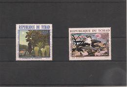 TCHAD Peintures Henri Rousseau P.A. N° Y/T : 47/48 ** Côte : 8,00 € - Tchad (1960-...)