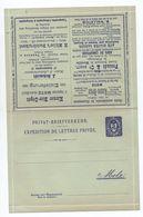 CARTE LETTRE EXPEDITION DE LETTRES PRIVEE De METZ - Postal Stamped Stationery