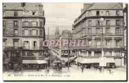 CPA Rouen Entree De La Rue De La Republique - Rouen