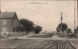 ! 60 Oise, Carte Postale Ribecourt La Gare, Bahnhof, 1915, Feldpost 1.Weltkrieg, Tating - Ribecourt Dreslincourt