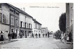 CARNETIN (77) Seine Et Marne -.Place Des Fetes.- Devant  Epicerie Tabac Chevallier.(éditeur)-  Attelage .recto Verso - Autres Communes