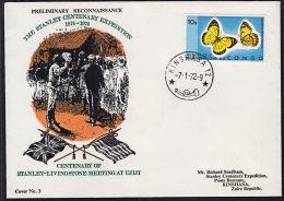 Covz0713 CONGO (Kinshasa) 1972 Stanley Centenary Expedition Cover With Kinshasa 12 I.7-CEL- Cancellation - Democratische Republiek Congo (1997 - ...)