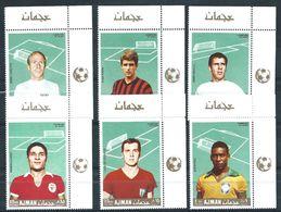 Ajman 1970 Soccer Players MNH** - Lot. 4678 - Ajman