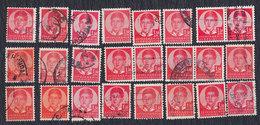 Kingdom Of Yugoslavia 1935 Petar II - 1.50 Din - 24 Pieces, Used (o) Michel 304 - Gebraucht