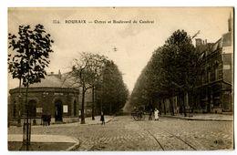 CPA 59 Nord Roubaix Octroi Et Boulevard De Cambrai Animé - Roubaix