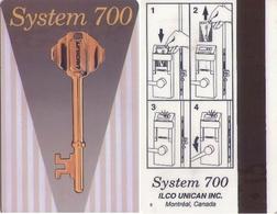CANADA. HOTEL KEY CARD. SYSTEM 700, ILCO UNICAN. 012. - Cartas De Hotels