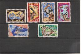 TCHAD  Année 1965  N° Y/T :104/109* Côte: 8,50 € - Tchad (1960-...)