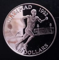 """Solomon Islands 10 Dollars 1991 Sivler Proof """"1992 Olympic Games"""" Free Shipping Via Registered Air Mail - Salomon"""
