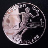 "Solomon Islands 10 Dollars 1991 Sivler Proof ""1992 Olympic Games"" Free Shipping Via Registered Air Mail - Salomonen"