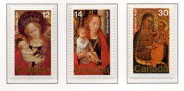 PIA - CANADA  - 1978   : Natale - Dettagli Di Quadri Della Galleria Nazionale A Ottawa -  (Yv 682-84) - 1952-.... Regno Di Elizabeth II