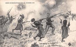 Illustration - Une Charge De Turcos - Série Humoristique De La Guerre 1914 - Militaire Militaria Soldats - Ilustradores & Fotógrafos
