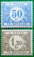 BELGIUM 1922-29 50c,1.20F Due MLH - Portomarken
