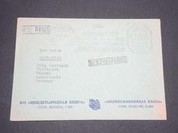 U.R.S.S. - Enveloppe Comerciale De Moscou Pour Stuttgart En 1957 Par Avion , Affranchissement Mécanique -  L 12685 - 1923-1991 URSS