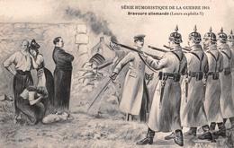 Illustration - Bravoure Allemande - Série Humoristique De La Guerre 1914 - Anti Boche Cruauté Militaire Militaria Jarry - Illustrators & Photographers