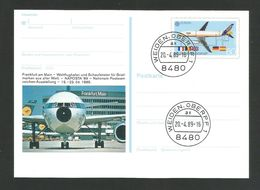 BRD 1988  Mi.Nr. 1367, EUROPA CEPT -Transport- Und Kommunikationsmittel-Ganzsache - S Stempel Weiden / Oberpf - Europa-CEPT