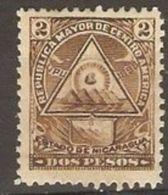 Nicaragua - 1898 Coat Of Arms 2p MH * - Nicaragua