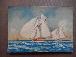 CPSM - RARE - JOLI CARTE - BATEAU A VOILE - EDIT BARRE DOYEZ - ILLUSTRATION - R11570 - Sailing Vessels