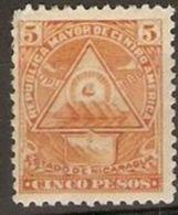 Nicaragua - 1898 Coat Of Arms 5p MH * - Nicaragua