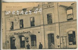 Stallupönen V.1915  Der Bahnhof (13306) - Ostpreussen