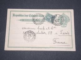 BRÉSIL - Entier Postal De Recife + Complément Pour Paris En 1912 - L 12708 - Entiers Postaux