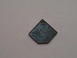 Belasting Op HONDEN / Taxe : Belgique / België 1944 - 268430 ( TOKEN For Dog / Chien TAX / For Detail, Zie/see Photo ) ! - Unclassified