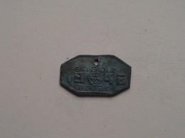 Belasting Op HONDEN / Taxe : Belgique / België 1946 - 502208 ( TOKEN For Dog / Chien TAX / For Detail, Zie/see Photo ) ! - Unclassified