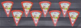 AC -  COWBOY TRIANGLE TRIANGULAR CREAM CHEESE LABELS  8 PIECES MADE IN TURKEY TO EXPORT TO IRAQ - Cheese